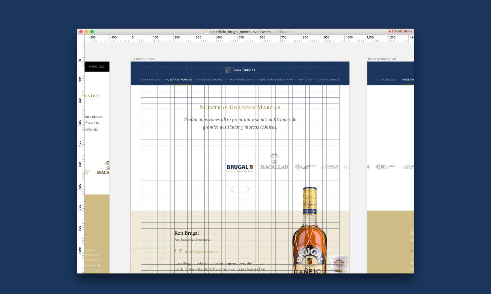 Teniendo los planos y la interacción del sitio definida, procedemos a integrar la identidad, color, tipografía y look & feel del proyecto. Cuidando cada pixel y siguiendo cualquier lineamiento que apoye la comunicación del sitio.