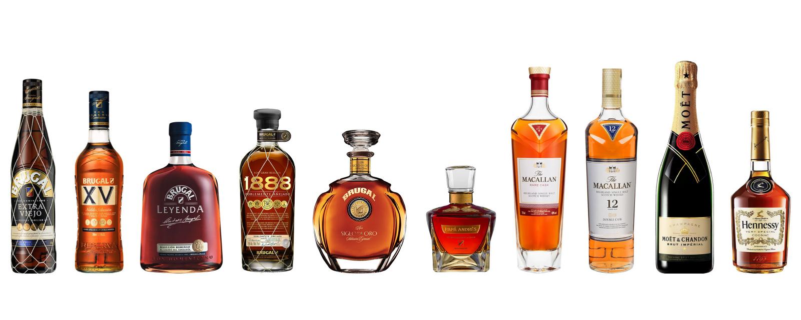 Marcas icónicas Premium alojadas por Casa Brugal.
