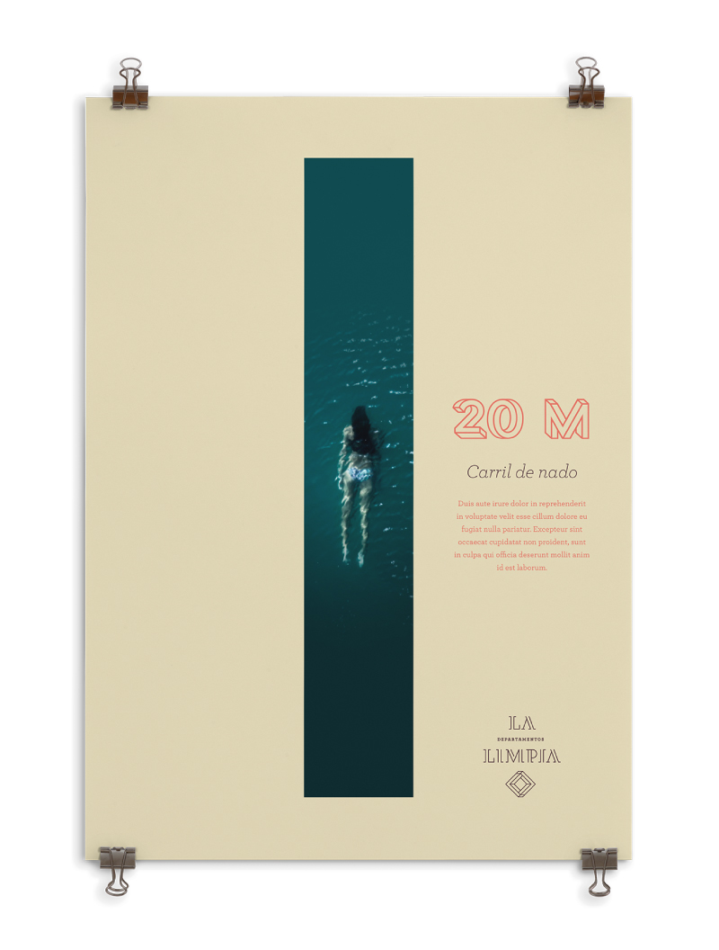 Poster carril de nado de 10 m