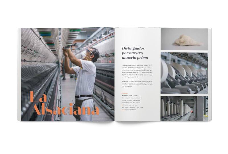 Ejemplo de spread en Brochure de Defils