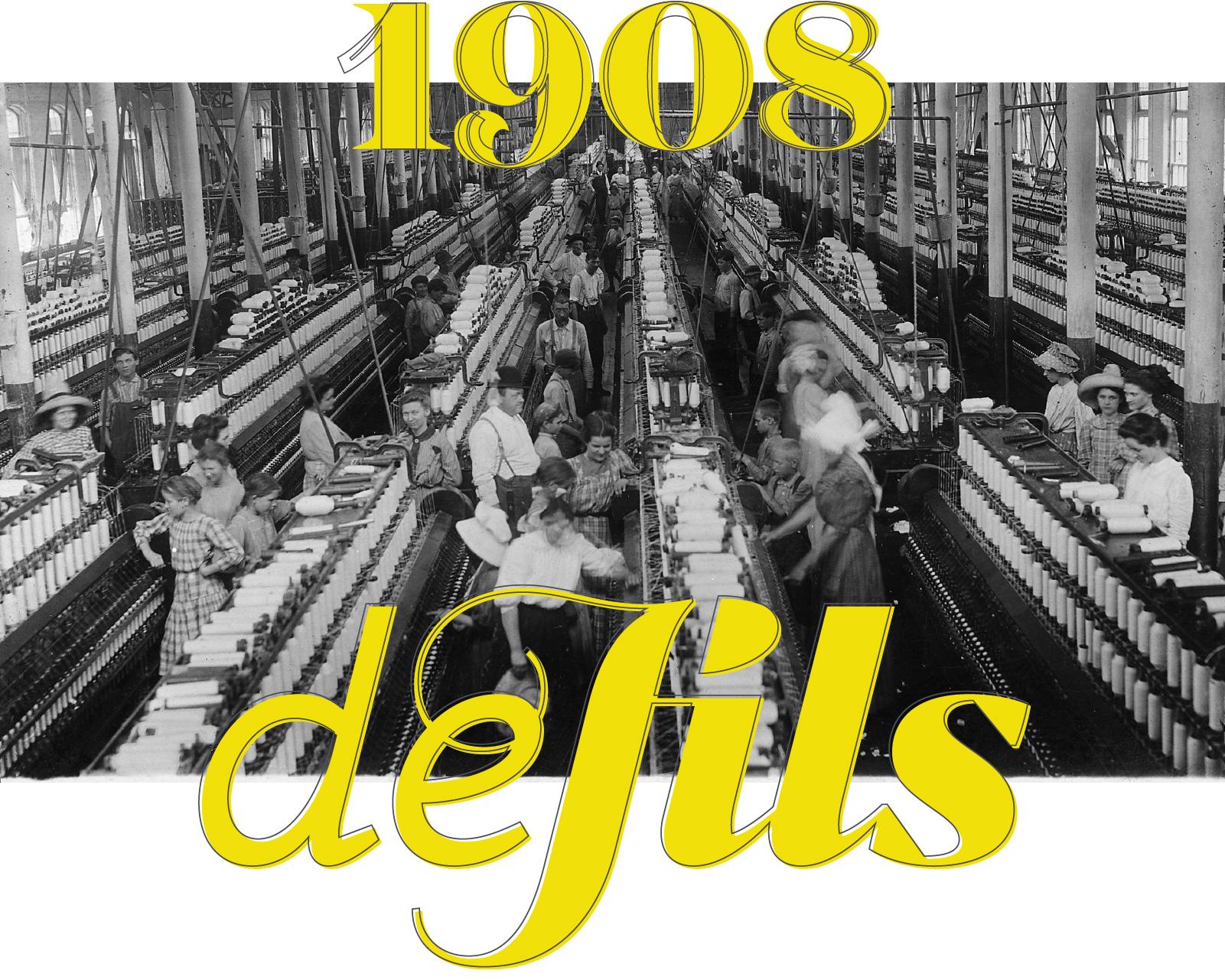 Fotografía histórica de una fábrica textil