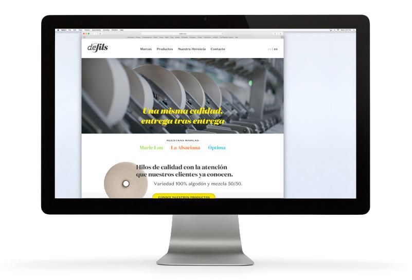 iMac con el sitio de Defils