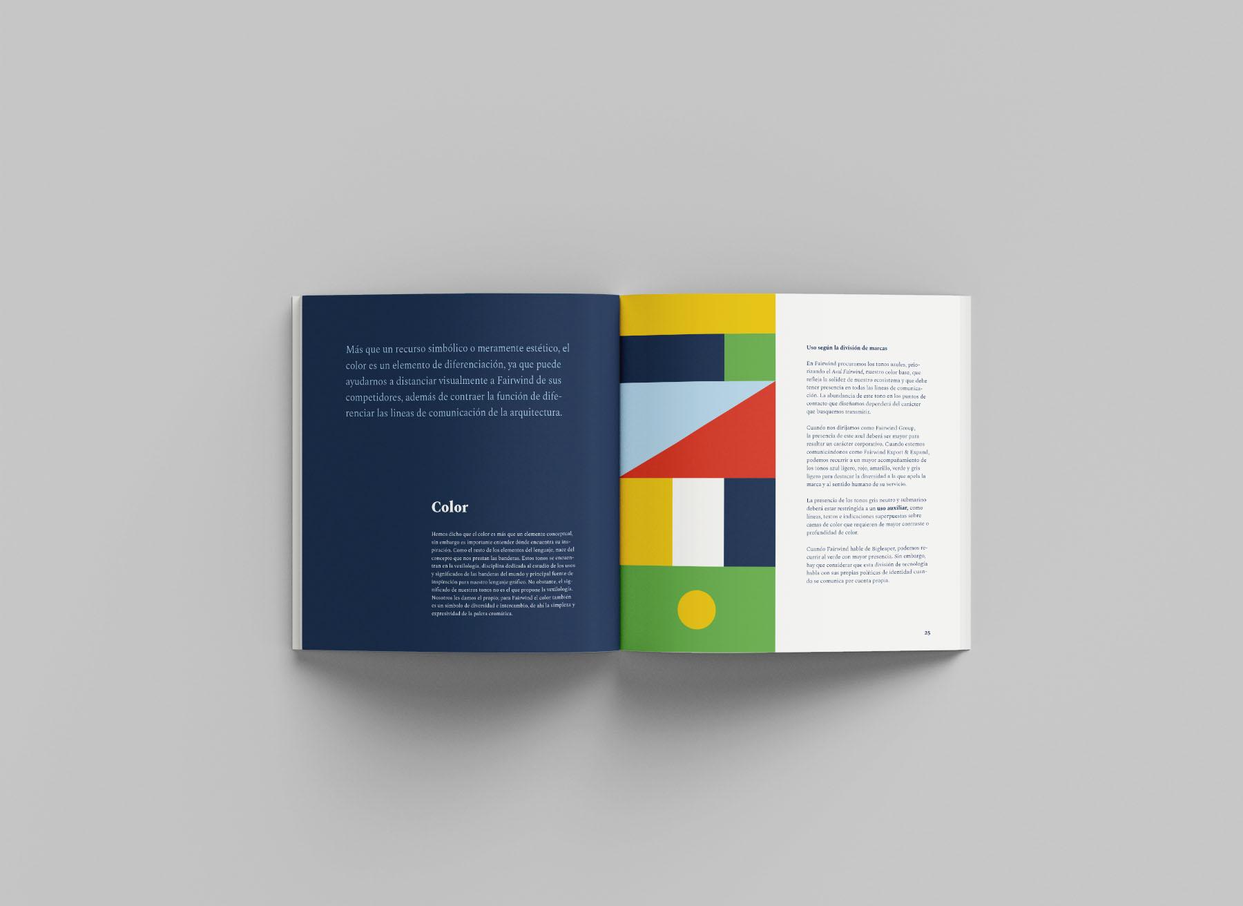 Manual de identidad de Fairwind - Colores