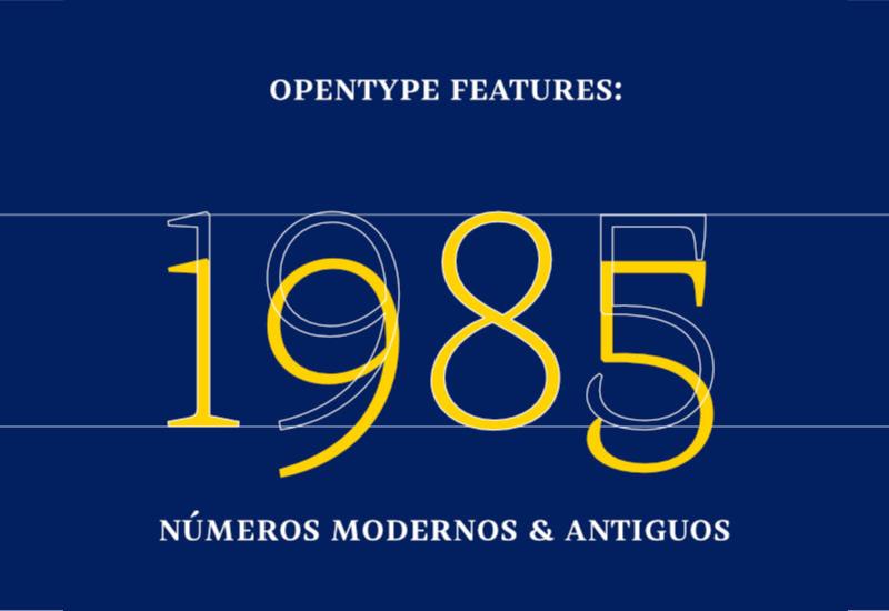 Números modernos y antiguos