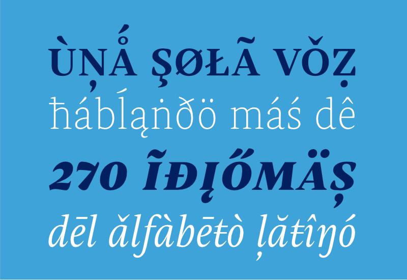Una sola voz hablando más de 270 idiomas.