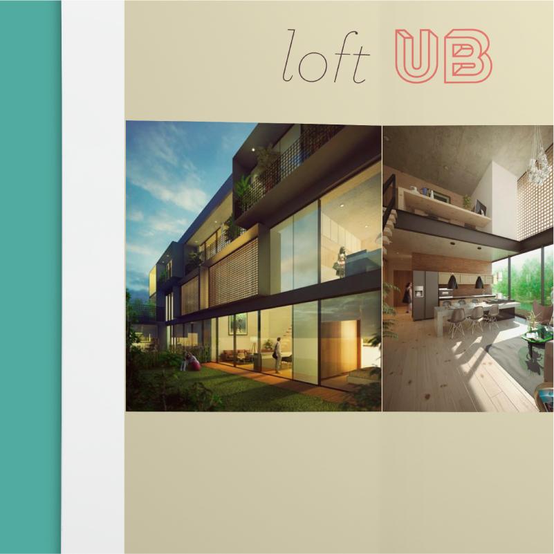 Brochure con el catalogo de lofts a ofrecer en La Limpia en el Centro Histórico de Puebla