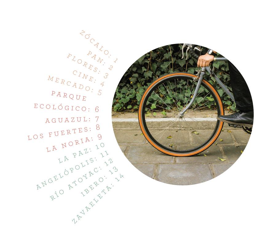 Foto de bicicleta y cuantos minutos te tardas en llegar a ciertos lugares en este medio de transporte