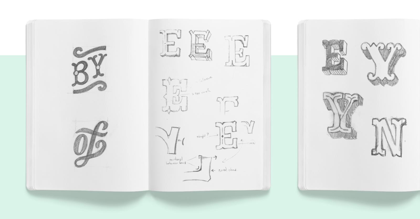 Cuaderno de bocetos izquierdo