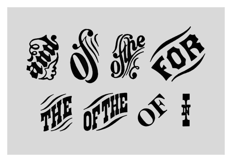 Conjunciones tipográficas del siglo XIX