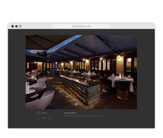 Foto de sala de restaurante en la página rolandowhite.com