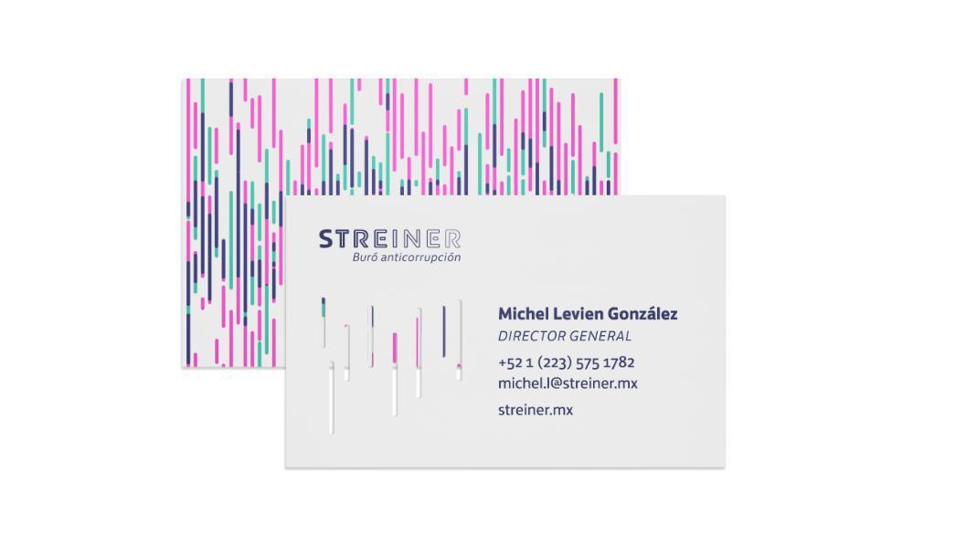Tarjetas de presentación de Streiner con suaje