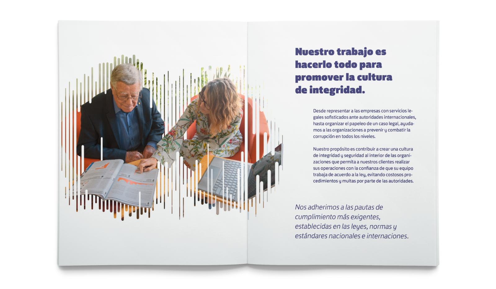 brochure de Streiner con fotografía