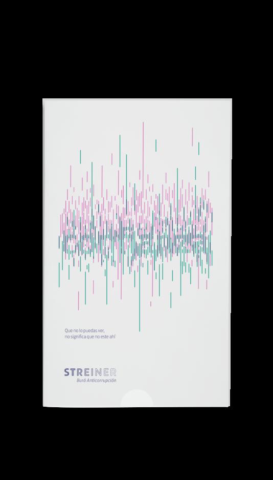 brochure de Streiner con ilusión óptica