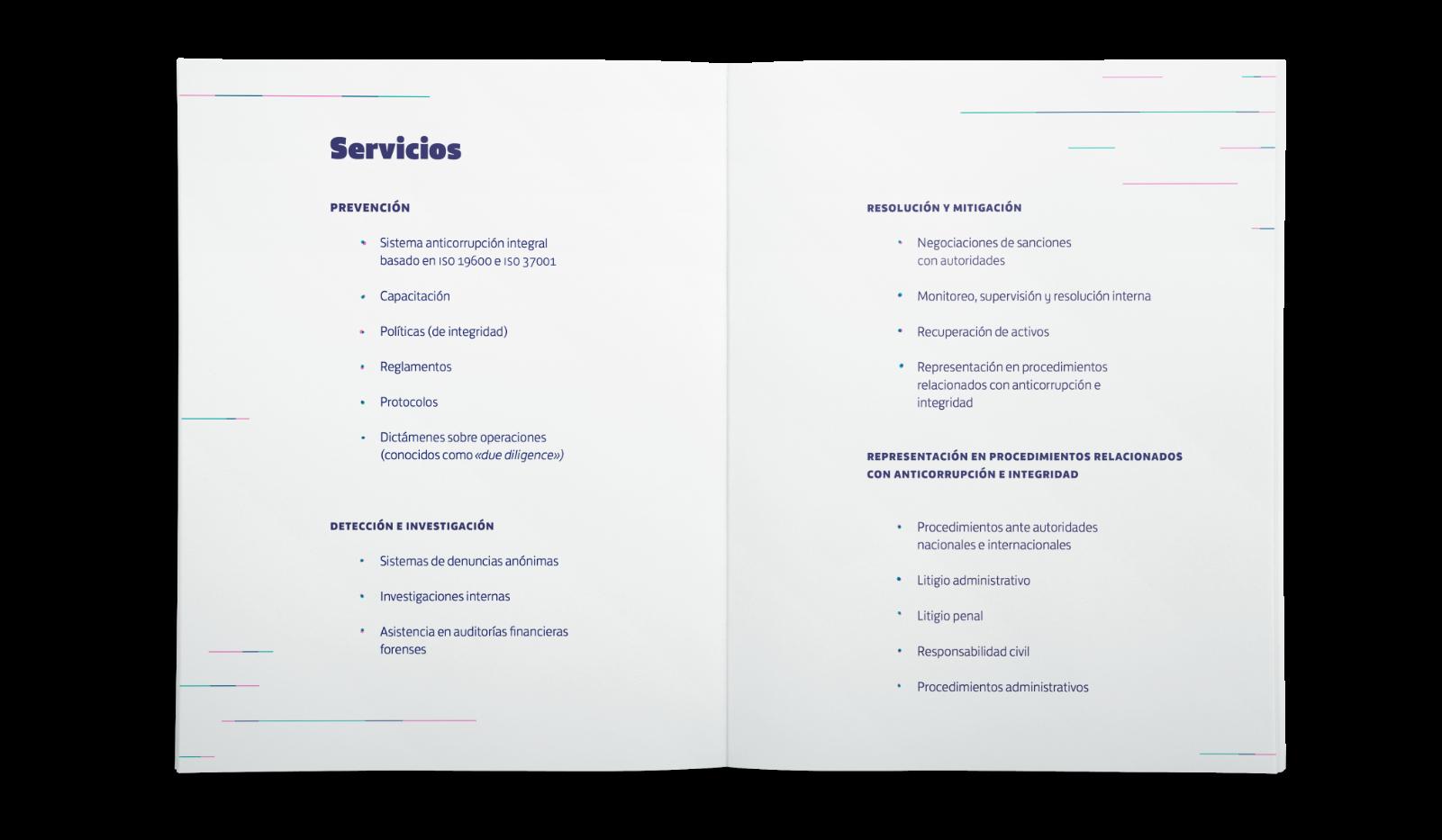 brochure de Streiner con particulas