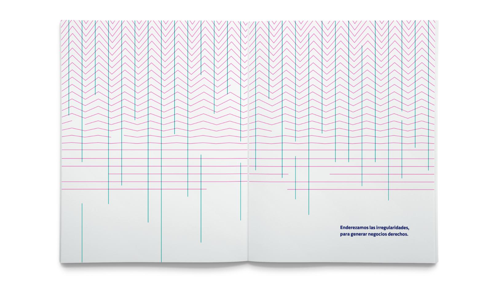 brochure de Streiner con texturas