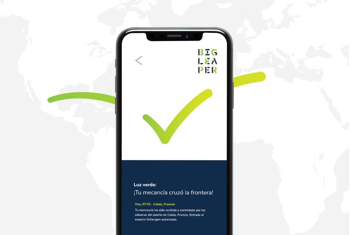 Aplicación móvil de Bigleaper.