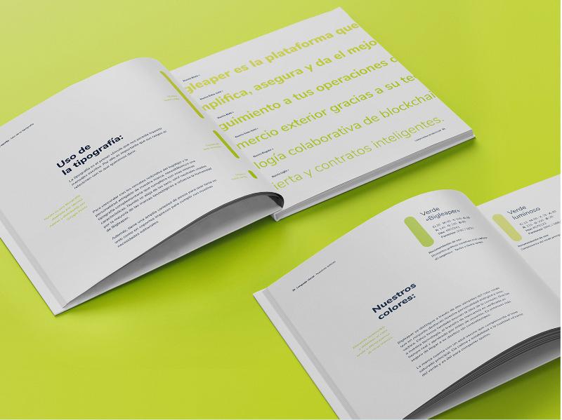 Manual de identidad de marca de Bigleaper